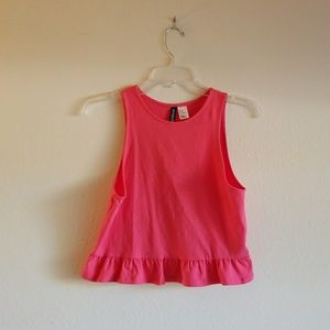 4 for $25!!!!! H&M Crop Ruffle Peplum Sleeveless